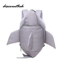 Baby 3D Cute Shark Backpack Animal Waterproof Antilost Kids Backpack Children Kindergarten School Bag Mochila