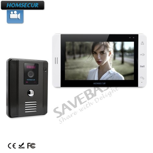 HOMSECUR New Wired Video Intercom Doorbell Recording And Photo Taking 7