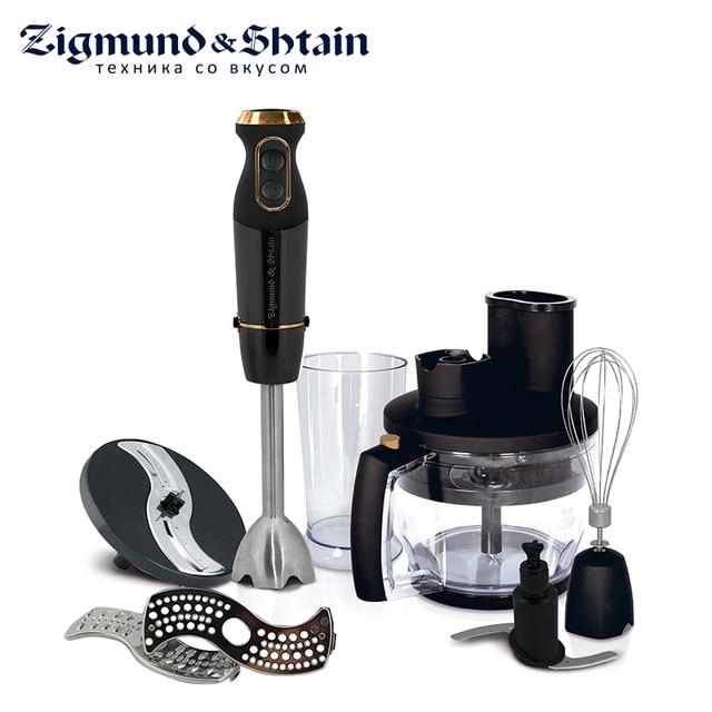 Zigmund & Shtain BH-340 M Блендер погружной, 1200 Вт, Основная чаша измельчителя 1250 мл, 12 скоростей работы+турбо, Насадка-венчик/терка/шинковка/блендер, Чаша для смешивания на 600 мл