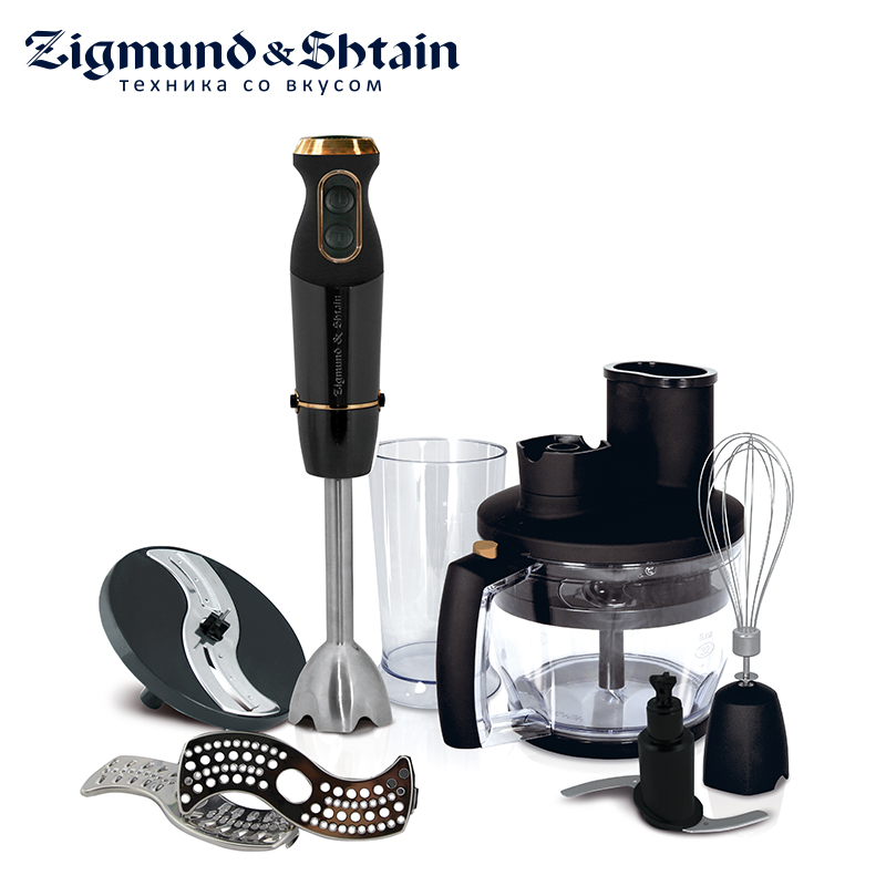Zigmund & Shtain BH-340 M Blender Submersible Food processor Food mixer Electric kitchen Chopper Juicer Smoothies shineye household food vacuum sealer packaging machine automatic electric film food sealer vacuum packer including 10pcs bags