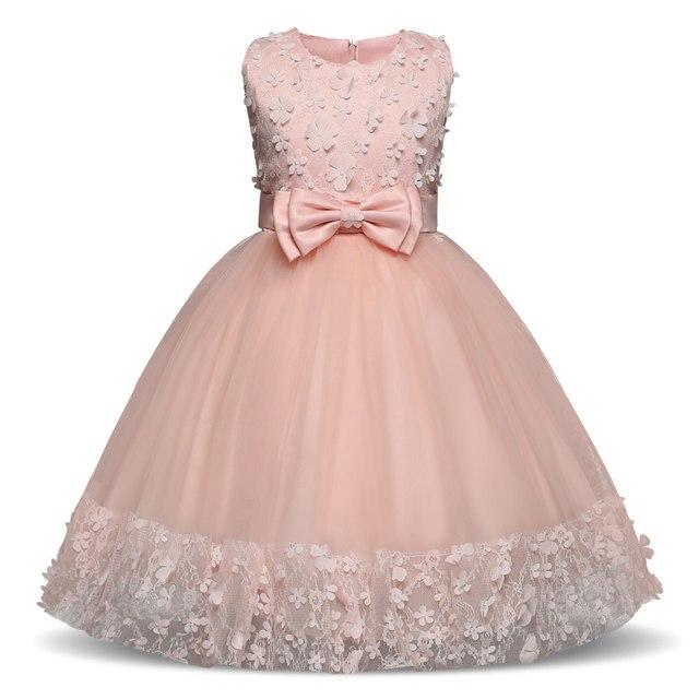Online Shop Girls Dress Mesh Pearls Children Wedding Party Dresses ...