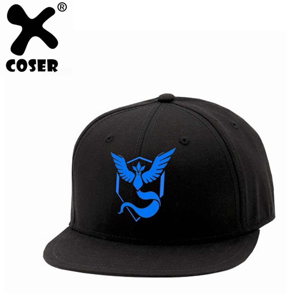 XCOSER Pokemon Go Baseball Team Mystic InstInct Valor Cosplay Cap Men Women Cool Hip Hop Hats Christmas Gift Holiday Casual Caps image