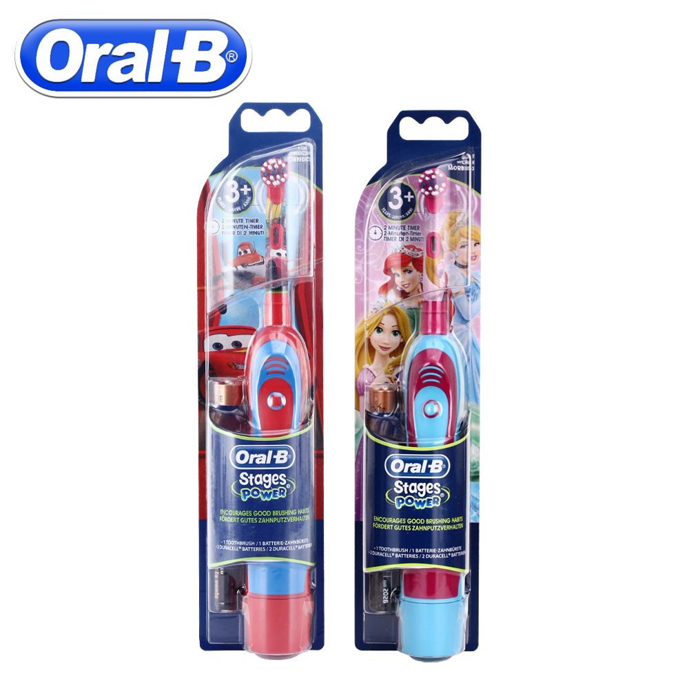 Oral B Children Sonic Electric Toothbrush Oral Care Kids Electronic Teeth Brush Stages Battery Power Rotation Brush Tooth Heads image
