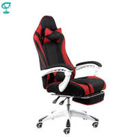 95143 Barneo K-140 Black Red Gaming chair computer chair mesh fabric high back plastic armrests free shipping in Russia