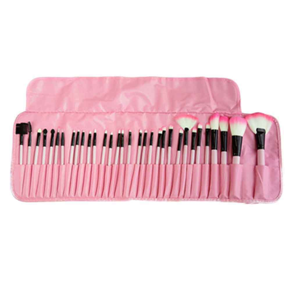 Stock Clearance 32Pcs Print Logo Makeup Brushes Professional Cosmetic Make Up Brush Set The Best Quality Can Dropshipping