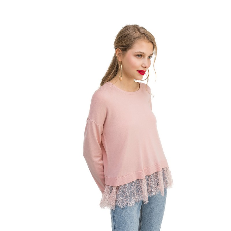 Sweaters jumper befree for female  sweater long sleeve women clothes apparel woman turtleneck pullover 1811556861-97 TF stylish women s plunging neck knotted solid color long bell sleeve blouse