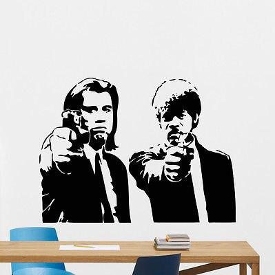 Filme Filme de Tarantino Pulp Fiction Decalque Da Parede Do Vinil Sticker Art Decor Mural E572