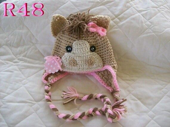 Free shipping,Crochet Horse Hat, Pony Hat, Newborn Photography Props ...