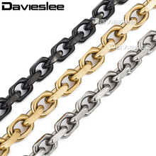 9mm CABLE Link Necklace Stainless Steel Chain w T/O Toggle Link Clasp 3 colors Gift Promotion Wholesale Jewelry Jewellery LKNM53(China)