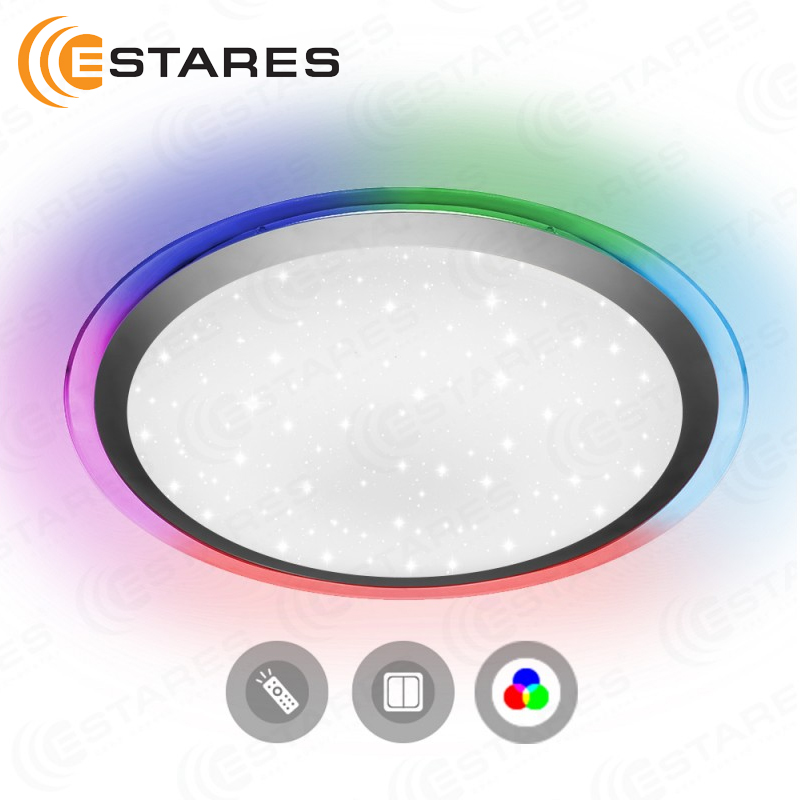 Estares Controlled LED Ceiling Light ARION 60 W RGB R-535-SHINY-220V-IP44 цена