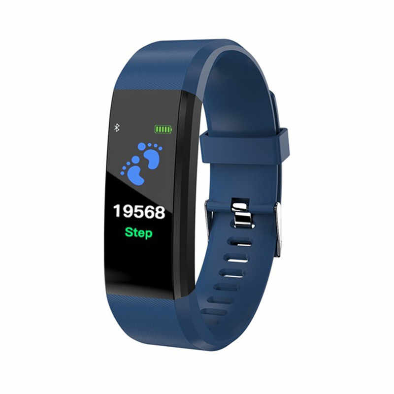 ID115 PLUS Color Screen Sports Pedometer Smart Bracelet Watch Fitness Running Walking Tracker Heart Rate Pedometer Smart Band