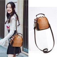 Bag 2018 women's new Korean version Chao personality retro single shoulder handbag multi function PU Leather mini women bags