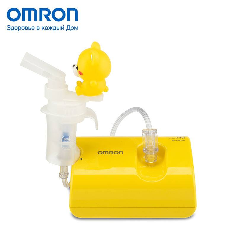 Omron NE-C24 Kids (NE-C801S-KDRU) Inhaler Massage & Relaxation Kids Home Health Care Nebulizer Volume of tank 2-7 ml omron m6 hem 7213 aru blood pressure monitor home health care monitor heart beat meter machine tonometer automatic digital