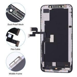 Image 3 - Elekworld sztywne elastyczne OLED AAA jakość testowane działa dobrze LCD dla iPhone XS wyświetlacz LCD 3D ekran dotykowy Digitizer zgromadzenie