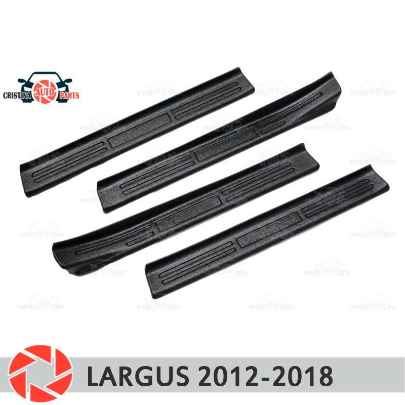 Lada largus 2012-2018 용 도어 씰 플라스틱 abs 스텝 플레이트 내부 트림 액세서리 보호 스커프 카 스타일링 장식