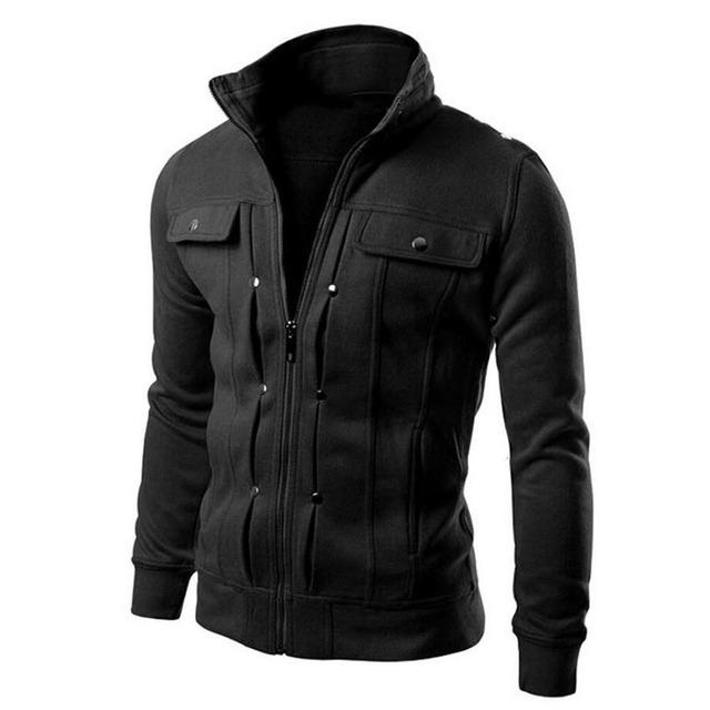New 2017 Fashion Hoodies Men Button Hip Hop Mens Brand Solid Hooded Zipper Hoodie Cardigan Sweatshirt Slim Fit Men Hoody 4XL