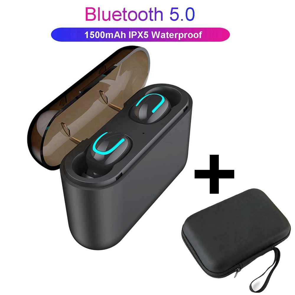 1f2aa235636 TWS auriculares Ture auriculares inalámbricos HBQ Q32 Bluetooth 5,0  auriculares con micrófono Mini Bluetooth