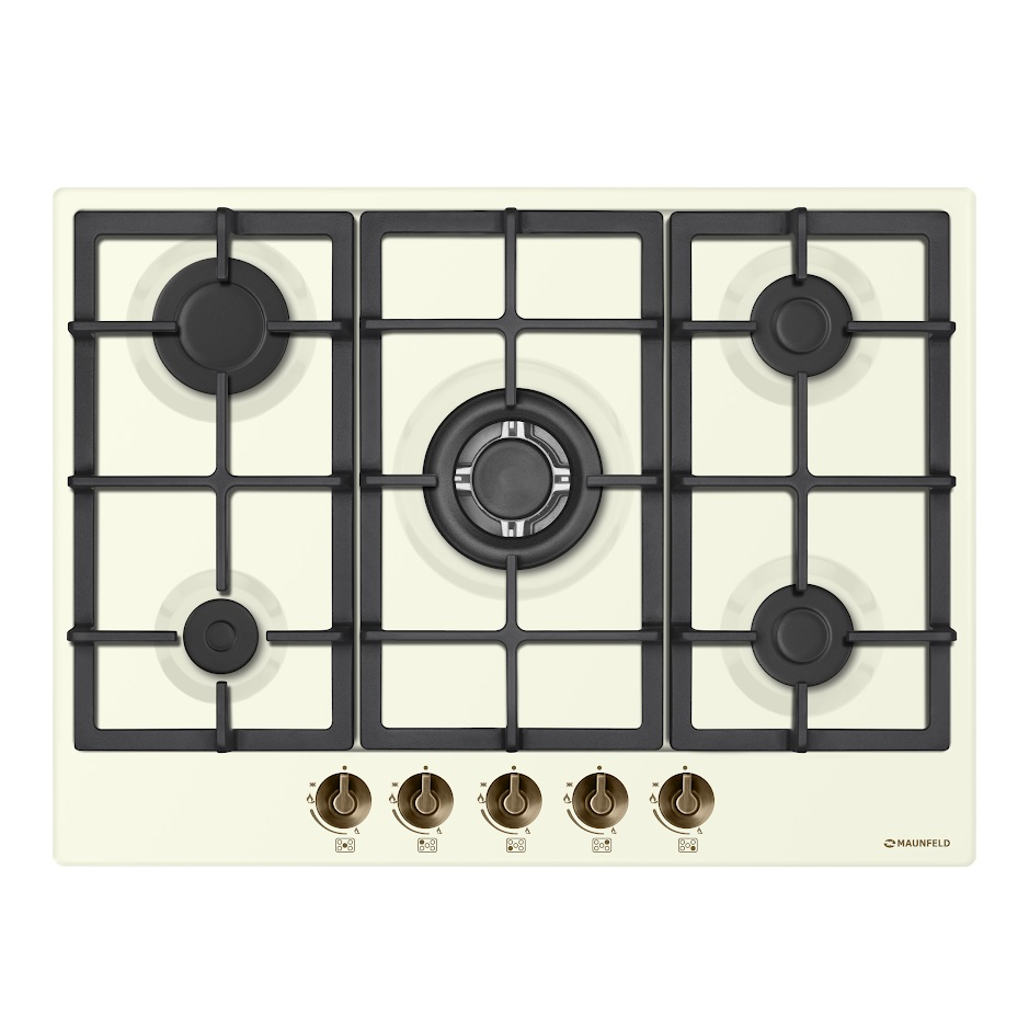 Cooking panel MAUNFELD EGHE.75.33CBG2. R/G Ivory cooking panel maunfeld eghe 64 43cw g white
