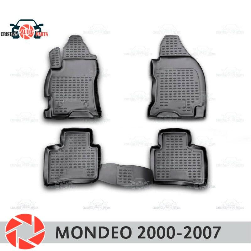 Alfombrillas de suelo para Ford Mondeo 2000-2007 alfombras antideslizantes de poliuretano protección de suciedad accesorios de diseño de coches interiores