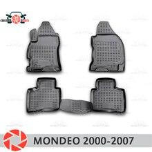 Коврики для Ford Mondeo 2000-2007 rugs Нескользящие полиуретан грязи защиты внутренних Тюнинг автомобилей аксессуары