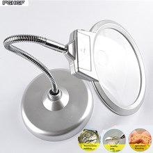 FGHGF European simple style magnifying glass Portable LED desk lamp Reading maintenance of life tools for the elderly Zoom in 5X