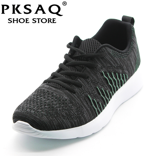 buy popular d91bf 6c605 PKSAQ Casual Shoes Men 2018 Air Mesh Super Light Breathable Tenis Summer  Loafers Mens Fashion Trainers Outdoor Walking Sneakers