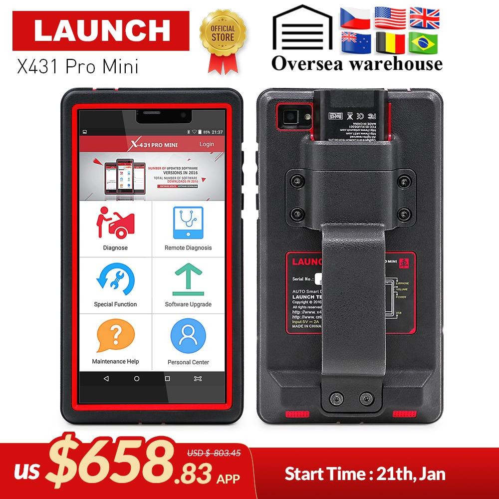 LANÇAMENTO X431 Pro Mini Auto ferramenta de diagnóstico de Suporte WiFi/Bluetooth sistema completo 2 X-431 Pro Profissionais Mini Scanner de Carro dois anos de atualização gratuita