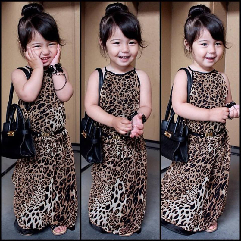 Causal Girls Dress 2017 Baby Sleeveless Leopard Printed Children Kids Party Wedding Dresses Girls Clothes 3 4 5 6 7 8 years old baby girls dress 2017 new children lace princess bow clothes toddler school wear wedding dresses for kids 3 6 8 10 11 years old