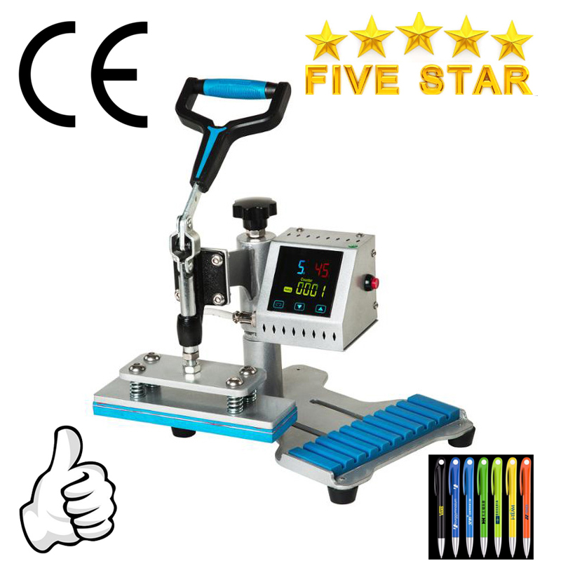 Pen logo 10in1 Portable Swing Away Pen transfer Heat Press Machine NO CH1802 Print 10 pcs