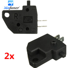 2Pcs Motorcycle Black Front Left Brake Stop Light Switch Press Button Fits For Honda CBR600