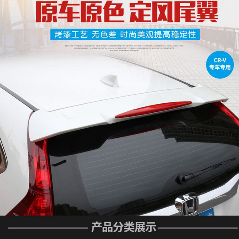 New ABS Unpainted Primer Car Rear Wing Spoiler Tail Fin Cover Decoration Fit For Honda CRV CR-V 2012 2013 2014 2015 2016 abs plastic material unpainted primer color tail trunk wing rear roof spoiler car styling for honda crv cr v 2007 2011 aitwatt