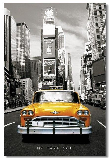 Custom Canvas Wall Decor The NY Tax NO1 Poster New York Yellow Cab