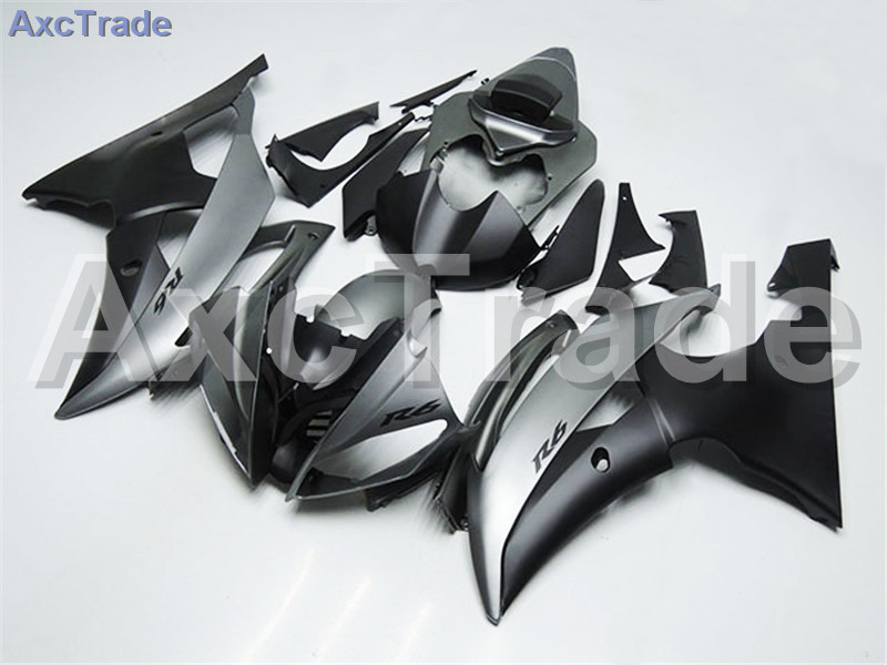 Motorcycle Fairings Kits For Yamaha YZF600 YZF 600  R6 YZF-R6 2008-2014 08 - 14 ABS Injection Fairing Bodywork Kit Silver Black hot sales yzf600 r6 08 14 set for yamaha r6 fairing kit 2008 2014 red and white bodywork fairings injection molding