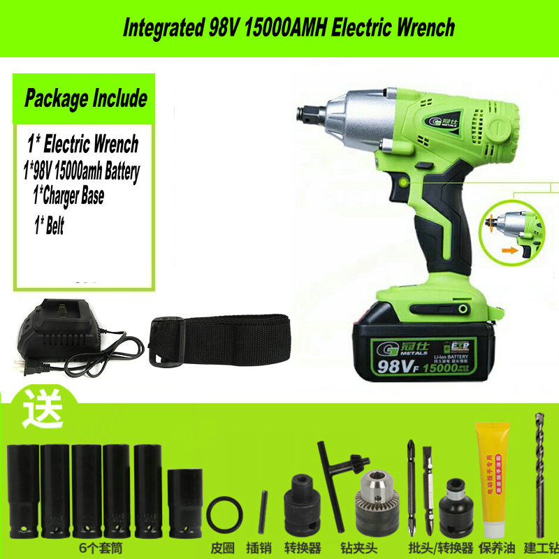 98TV 15000mAh Cordless Electric Wrench Impact Socket Wrench Li Battery Hand Drill Hammer Installation Power Tools