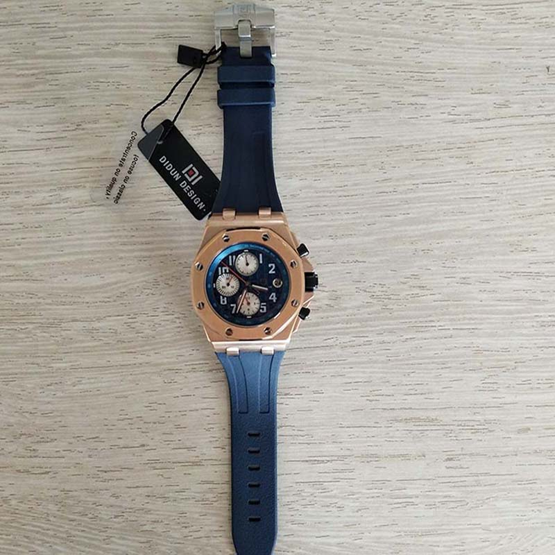 DIDUN мужские часы лучший бренд швейцарские часы мужчин из нержавеющей Сталь Кварцевые спортивные часы мужской в стиле милитари часы Водонеп