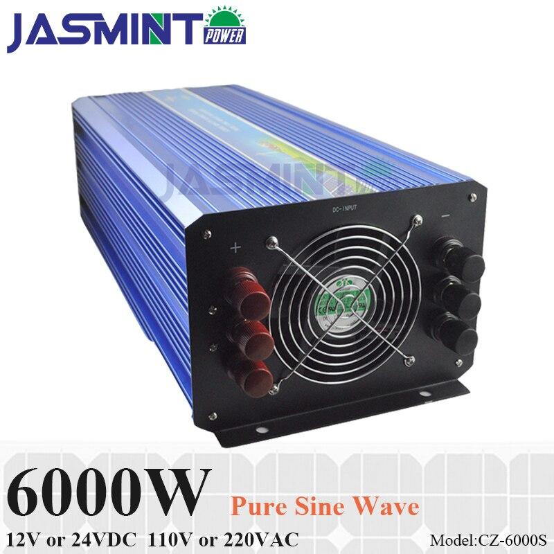 6000W Off Grid Inverter 12V 24VDC 100 110 120VAC or 220 230 240VAC Pure Sine Wave