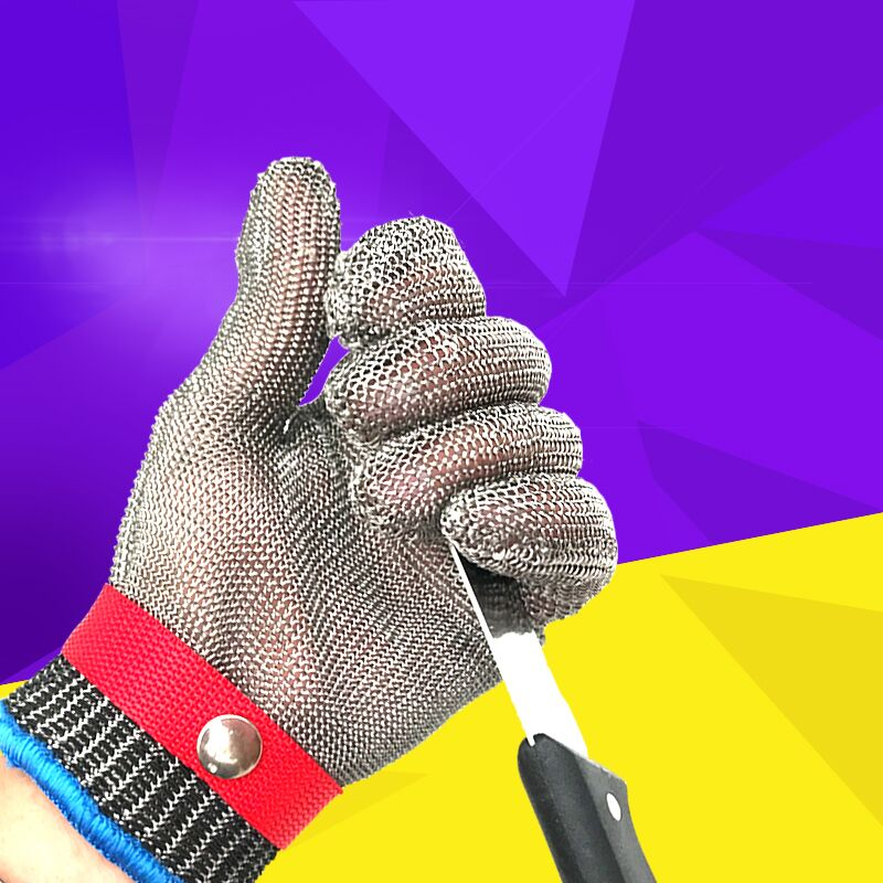 Stainless Steel Cut Resistance Glove Level 5 Work Gloves Protective Gloves Mesh Butcher Glove Safety Cut Proof Stab Resistant