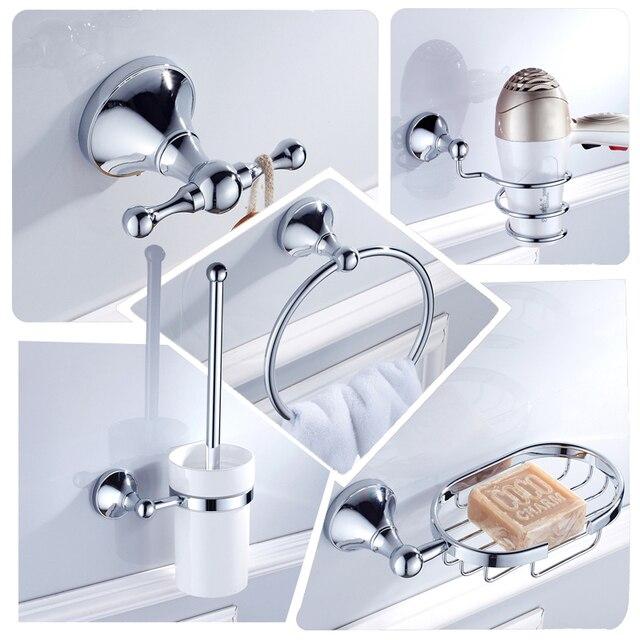 Modern Style Polished Chrome Bathroom Accessories Toilet Paper Holder Towel Rack Shelf Soap Dish Shower Bath