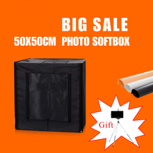 50X50X50CM Dimmable Led Photo Box Softbox Studio Photography Light Rent Lighting Room Portable With Free Gift цена