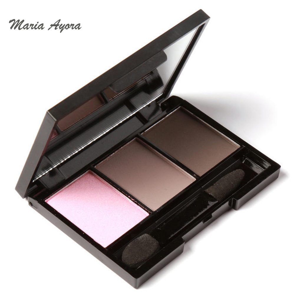 Maria Ayora 3 Colors Natural Matte Glitter Eyeshadow -9177