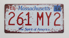 1 pc Massachusetts tin sign plate US American car license plaques man cave garage