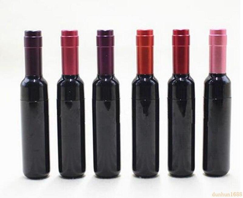 Nueva botella de vino de pintalabios vacía de 200 piezas, tubo de brillo de labios de 5 ml, botella recargable de brillo de labios DIY #5677