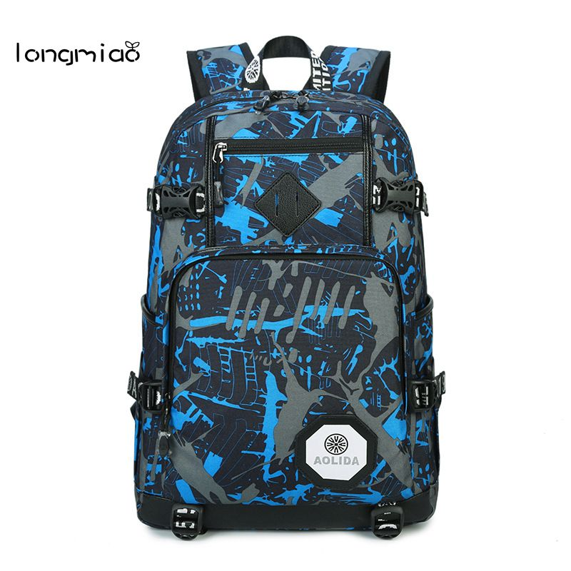 все цены на longmiao Men Oxford Camouflage Backpack Preppy Style Camo School Backpacks for Teenagers UK Flag Large Capacity Travel Bags онлайн