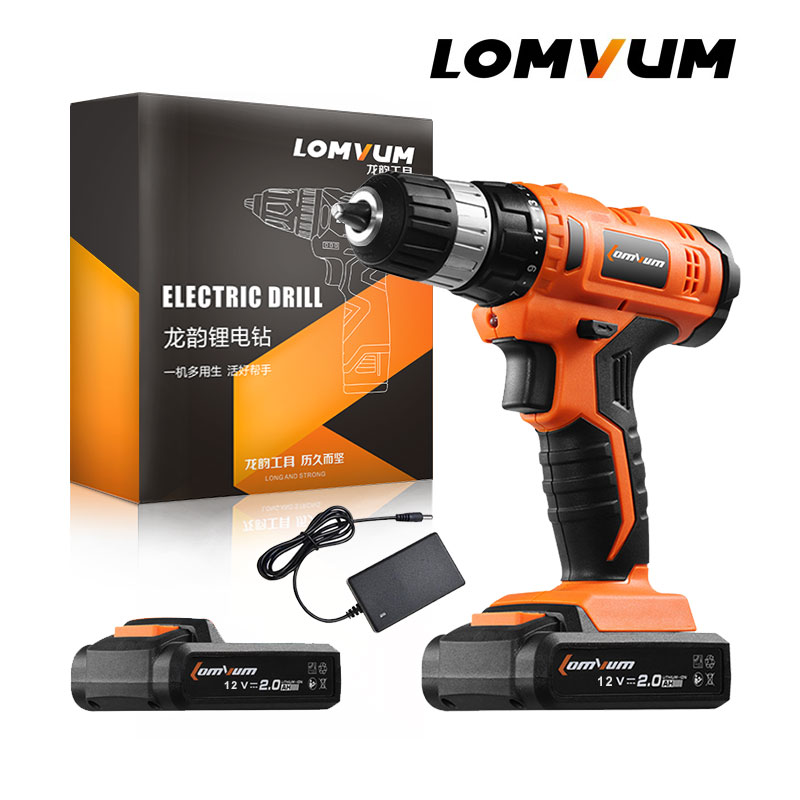 LOMVUM 12V Cordless Drill Rechargeable Lithium/ Li-ion Battery Electric Drill Household Screwdriver Woodworking Rotary ToolLOMVUM 12V Cordless Drill Rechargeable Lithium/ Li-ion Battery Electric Drill Household Screwdriver Woodworking Rotary Tool