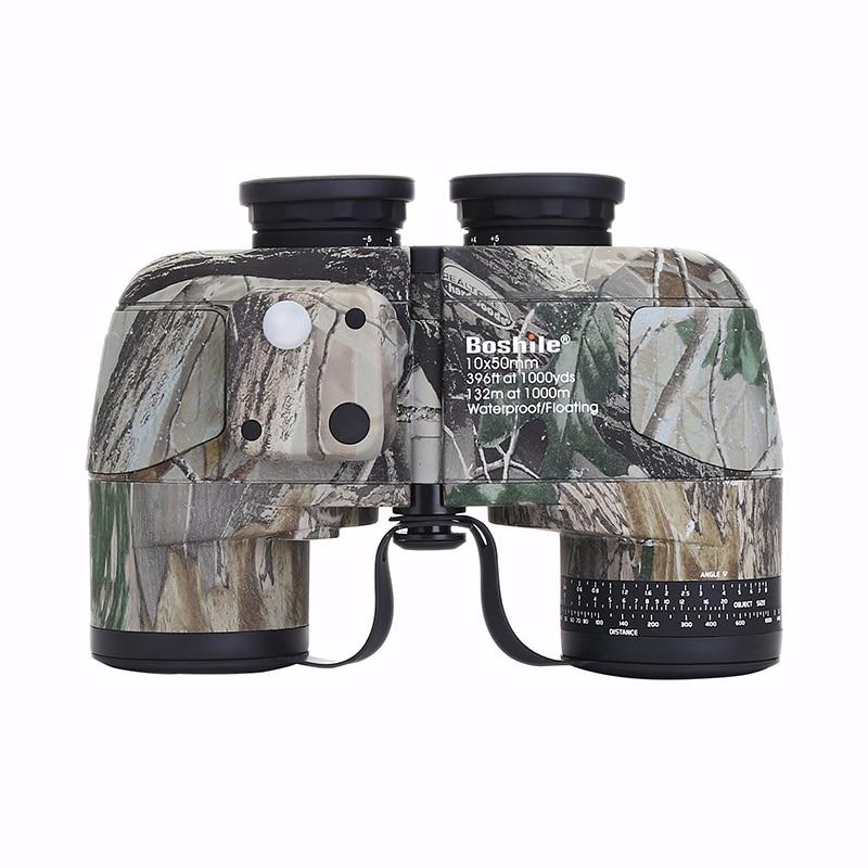 low light Night vision binoculars 10x50 professional military marine waterproof compass telescope HD bak4 rangefinder binoculars
