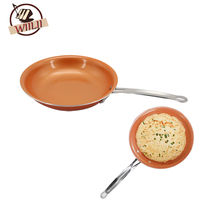 Aluminum Alloy Non Stick Copper Frying Pan With Ceramic Coating Cooking Tool For Eggs Pancake Steak