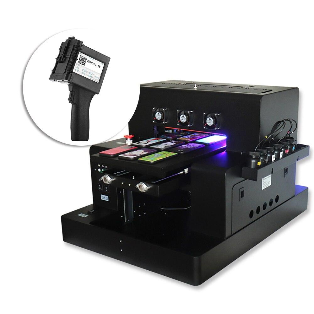 Automatic A3 UV Printer Bottle Printer Print White Color At One Time Phone Case & Portable Handheld Printer QR Code Mini Printer
