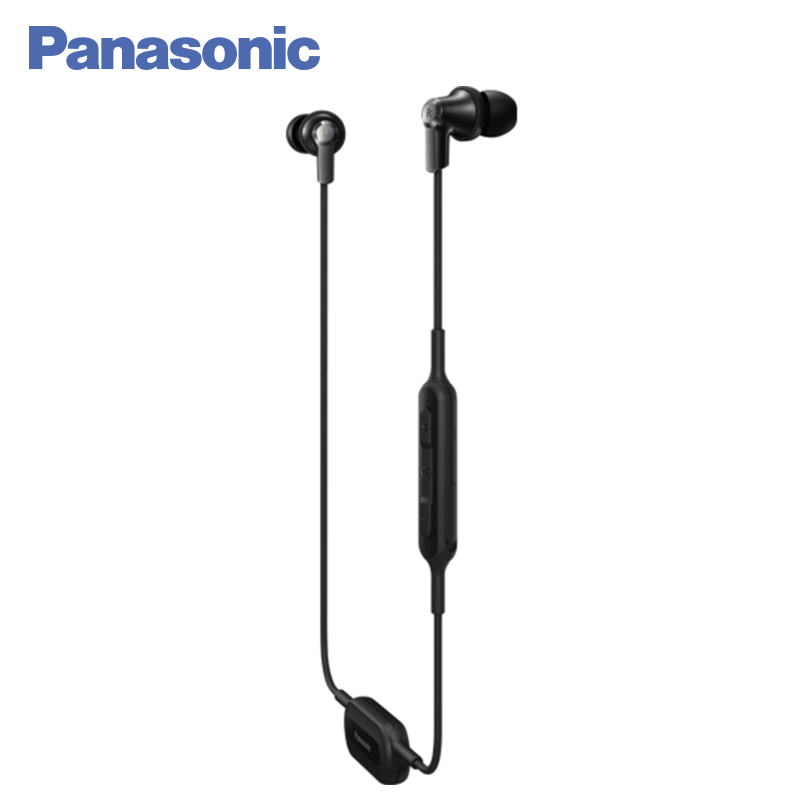 Panasonic RP-NJ300BGCK In-Ear Earphone Bluetooth Wriless Stereo Sound Headphones Headset Music Earpieces Earphones et800 in ear headset great sound 3 5mm super bass earphones with mic for iphone samsung