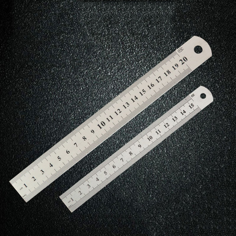 15CM 20CM 30CM Stainless Steel Metal Ruler Metric Rule Precision Double Sided Measuring Tool h3 11w 400lm 1 led 4 cob white light car foglight headlamp dc 12 24v