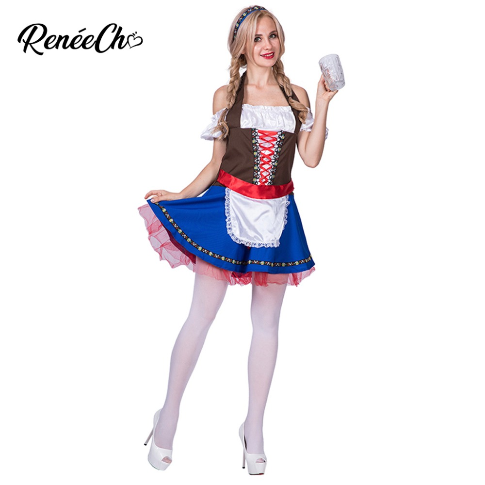 Halloween Costume For Women Oktoberfest Beauty Women Costume Lady Sexy Waitress Dress Swiss German Beer Girl Cosplay Costume